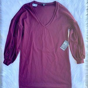 😍 women's express maroon dress